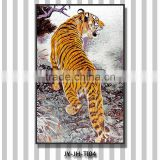 JY-JH-TI04 Tiger picture wall painting glass tile mosaic stickers Beautiful 3d wall mural