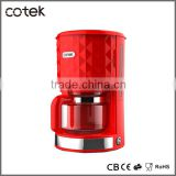 Coffee Machine/10-12cup special diamond desigh electric drip coffee maker auto cut-off with CE, CB, GS, ROHS, EMC, LFGB