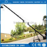 Photographic equipment professional 10m dslr camera jimmy jib crane with 2-axis motorized head