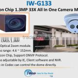 IW-G133 CMOS 33X Optical Zoom BOX IP Camera Module