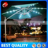 outdoor solar powered LED light public offset Umbrella