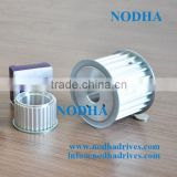 Aluminum timing pulley HTD8M with flange