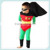 custom made latex kids superhero costumes carnival robin costume for boys robin baby superhero costume