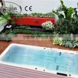 Fiberglass 5.8 meters artificial waterfalls swim spa combo