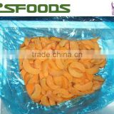 China IQF Frozen yellow peach halves