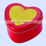 Heart shape candy tin box,chocolate,biscuit,cake,cookie,weddging,gift tin box