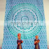 Hippie Indian Mandala Tapestry Wall Hanging Wholesale Cotton Blue Mandala Wall Decor Queen Size Tapestries Bedspread Supplier