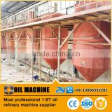 High oil quality small scale rapeseed oil refinery plant ,crude oil refinery ,camellia seed oil refinery made in China
