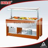 Buffet Wooden Salad Bar Refrigerator Sale/Salad Counter/Wooden Salad Bar