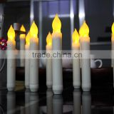 Yellow flicking tapper candles led church tealight candle flameless flicking tapper candle battery operated led tealight