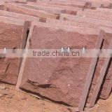 Red Sandstone Mushroom Stone Wall Cladding,Natural decorative red stone
