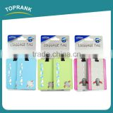 Toprank Cheap Price Customized Soft PVC Luggage Tag Printing Travel Baggage Tag Thermal Airline Luggage Tag
