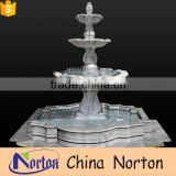Shopping malls decor limestone carved large garden water fountain NTMF-SA067L