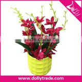 Wholesale Red Plastic Orchid Flower Artificial Cattleya Flower