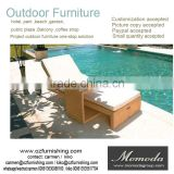 1037 New style modern outdoor beach sun lounger hot sale swimming pool side furniture