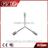 Y-style Cr-V combination nut socket spanner wrench / double socket ratchet wrench / torque socket set