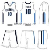Reversible basketball jersey basketball shirt and shorts custom cheap double mesh sleeveless basketball jersey set
