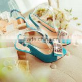 HFR-T0015 summer 2014 latest fashion plus size genuine leather peep toes ladies fancy sandal