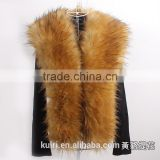 long women fur collar fake fox fur raccoon fur faux coat decor luxurious scarf winter multi