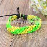 Fashion Surfer Tribal Wrap PU Punk Leather Cuff Bangle Bracelet