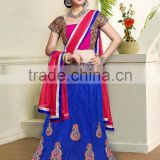 Exquisite Fusion Designer Semi Stitch Lehenga Sarees Collections