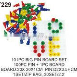 Plastic Connecting Educational Big Pegs And Peg Board Game