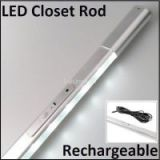 Elastic Rechargeable PIR LED Closet Rod For Wardrobe Lighting