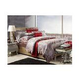 Bright Brown Elegant Floral Luxury Silk Bed Sets Lace Queen and King