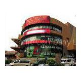 Light Weight Outdoor Mesh Led Screen , Tri Color RGB LED Media Facade For Advertising