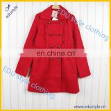 Wholesale Cheap Oem Polyester Red Women'S Coat
