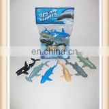 Interesting small rubber plastic toy sea animals shark