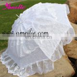 Bridal wedding Lace polyester umbrella