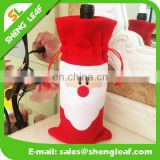 wholesale Red Wine Bottle Cover Bags Christmas Dinner Table Decoration Home Party Decors Santa Claus Christmas Supplier