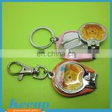 Customized cute bear epoxy logo printing fancy nail clippers