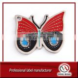 Professional Metal Crafts Die Casted Type And Soft Enamel Type Custom Decoration Souvenir Lovely Butterfly Metal Pendant