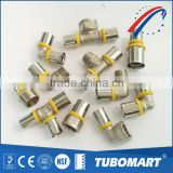 Gas System Durable tube fitting forged brass press fitting for Pex-Al-Pex pipe                                                                         Quality Choice