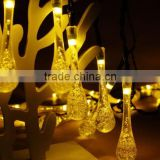 Solar Christmas Lights Water Drop Solar Fairy String Lights Waterproof Decoration HNL213S