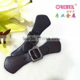 Oriental Metal product for coat & bag, PU leather buckle                                                                         Quality Choice