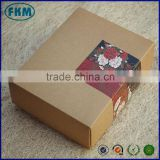 Blank kraft paper gift box heaven and earth covered box with four moon cake box 20 * 16 * 5cm                                                                         Quality Choice