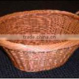 Full willow laundry basket with ear handle, in simple woven rim with natural color(no liner)
