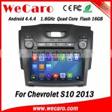 "Wecaro WC-CS8065 8"" Android 4.4.4 car multimedia system in dash 8 inch car dvd mp3 player for chevrolet s10 audio system"