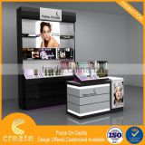 2016 new retail wooden cosmetic & skin care product display rack