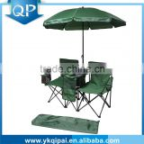 MARKET HOT double beach chairs, double folding chair with umbrella and ice insulation bag