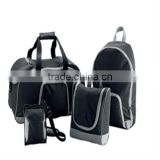 Four pieces travel bag backpack wash bag camera bag set functional travel bag set