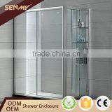 Wholesale Alibaba Bathtub 2 Sided Glass Shower Enclosure