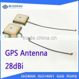 28dBi High Lan Gain Internal GPS Antenna 25*25mm GPS Ceramic Patch Antenna for Car Navigation