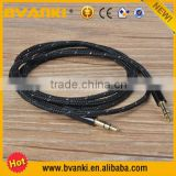 new products 2016 New Colorful 3.5 mm Male To Male Car Aux Audio Cable Braided Woven Cable Colorful Audio Cable 3.5mm mono