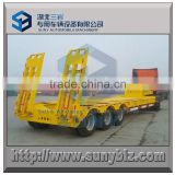 100 ton 3 axle heavy duty low flat deck semi trailer
