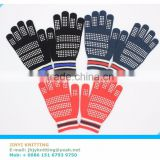 Hot sale safety winter heated gloves,100% acrylic knitted slip-proof gloves,OEM heated gloves