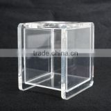"Custom printed acrylic Lucite Bathroom Accessory Tissue Box Hinged Top 6.75"" Tall x 5.5"" Wide or customized"